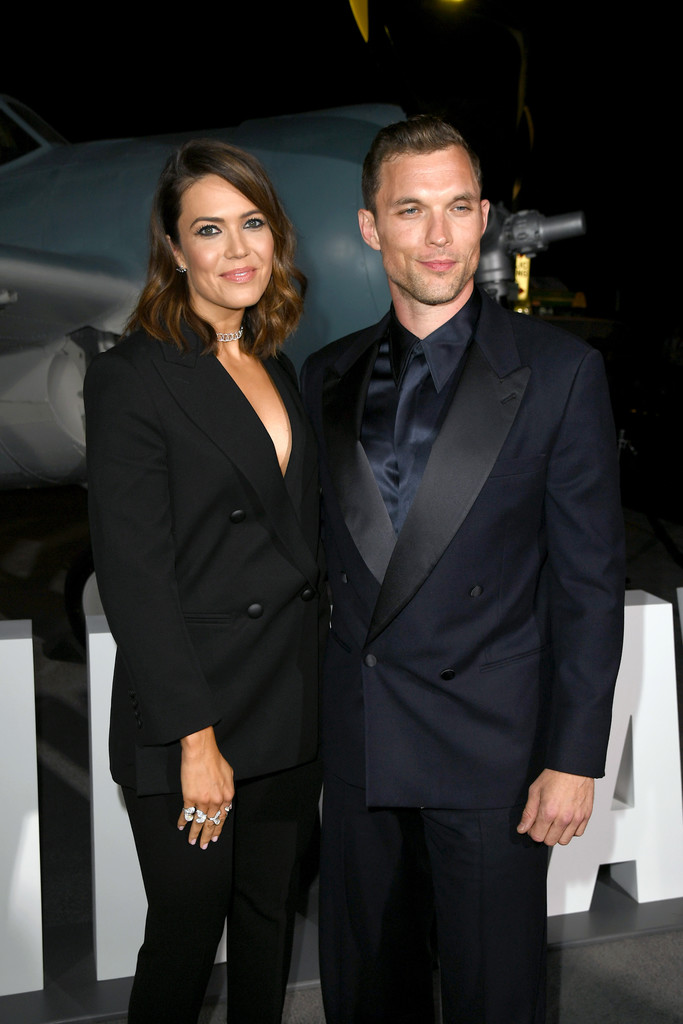 Mandy Moore and Ed Skrein Midway Hollywood Premiere Los Angeles