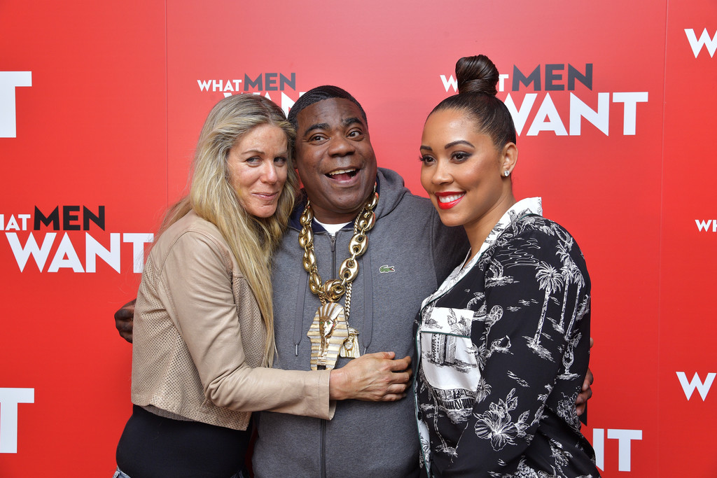 Marci Klein, Tracy Morgan and Megan Wollover What Men Want New York City Special Screening Arrivals