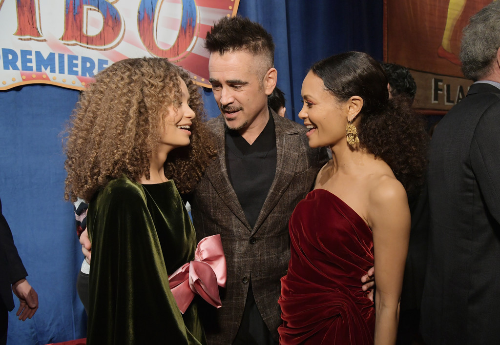Nico Parker, Colin Farrell and Thandie Newton Disney Dumbo Los Angeles Premiere