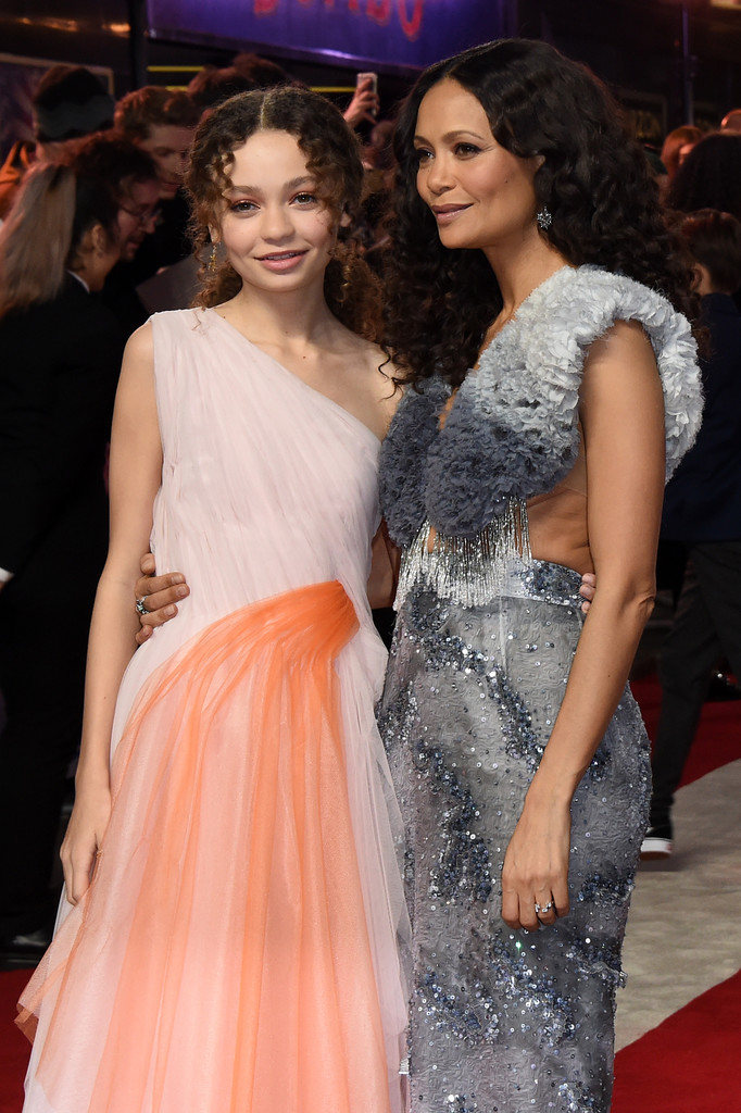 Nico Parker and Thandie Newton Disney Dumbo European Premiere London