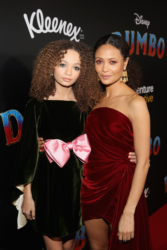 Nico Parker and Thandie Newton Disney Dumbo Los Angeles Premiere