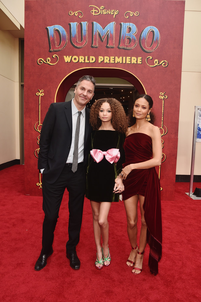 Ol Parker, Nico Parker and Thandie Newton Disney Dumbo Los Angeles Premiere