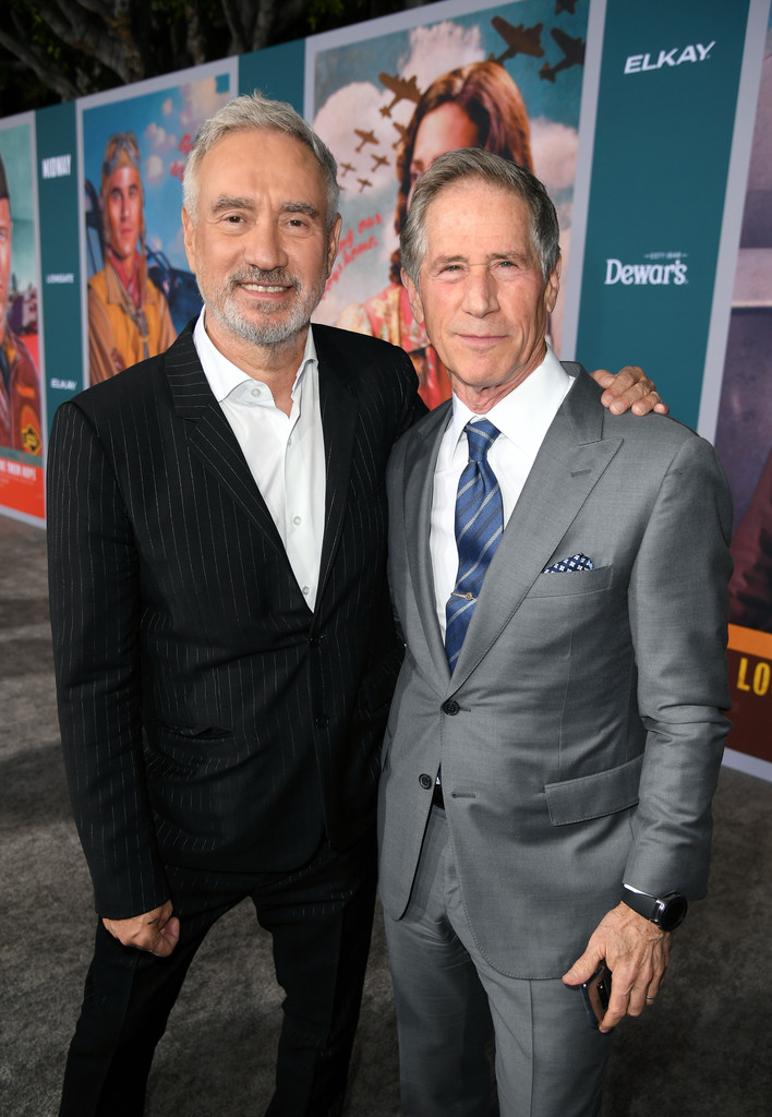 Roland Emmerich and Jon Fletheimer Midway Hollywood Premiere Los Angeles