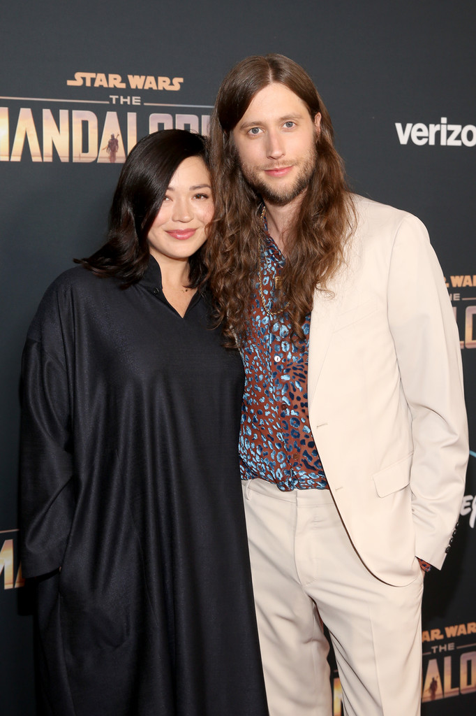 Serena McKinney and Ludwig Garansson The Mandalorian Disney+ World Premiere Hollywood Los Angeles