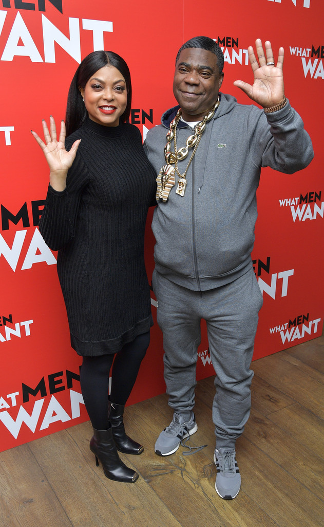 Taraji P Henson and Tracy Morgan What Men Want New York City Special Screening Arrivals
