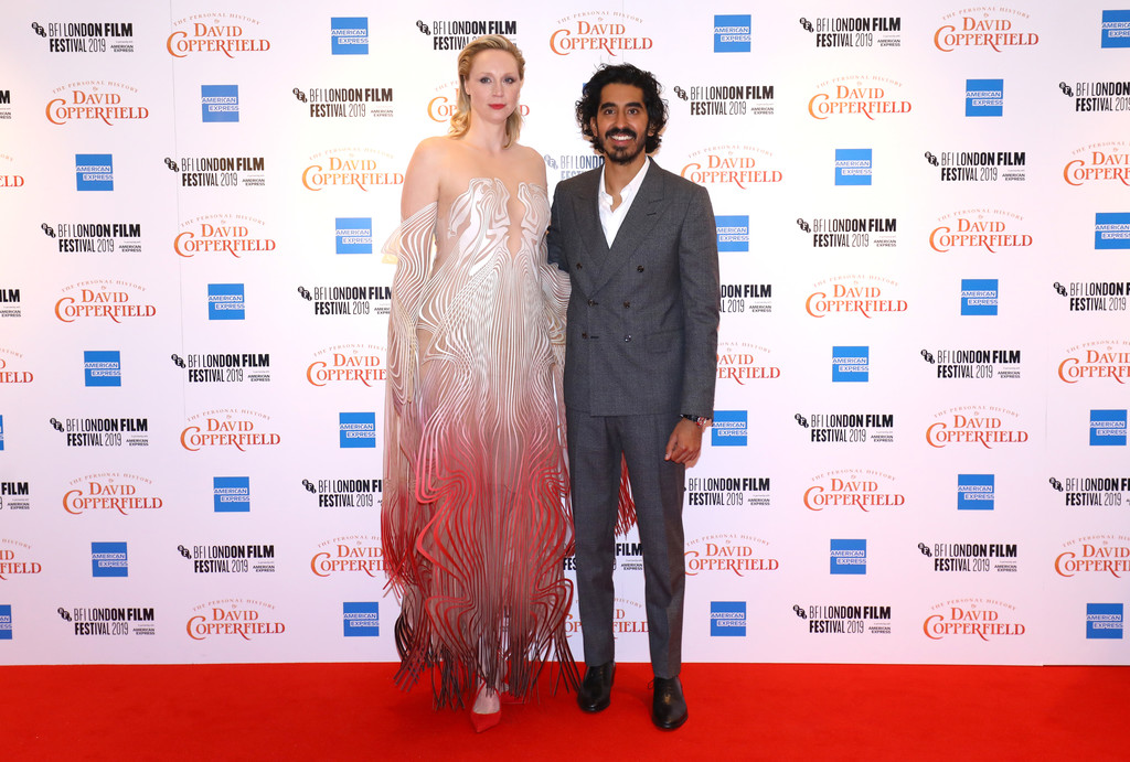 Tilda Swinton and Dev Patel The Personal History of David Copperfield European Premiere BFI London Film Festival 2019 London Arrivals