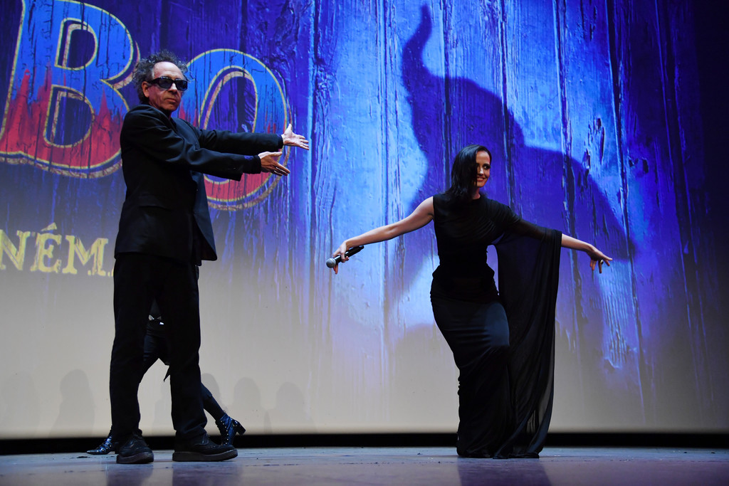 Tim Burton and Eva Green Disney Dumbo Paris Screening France