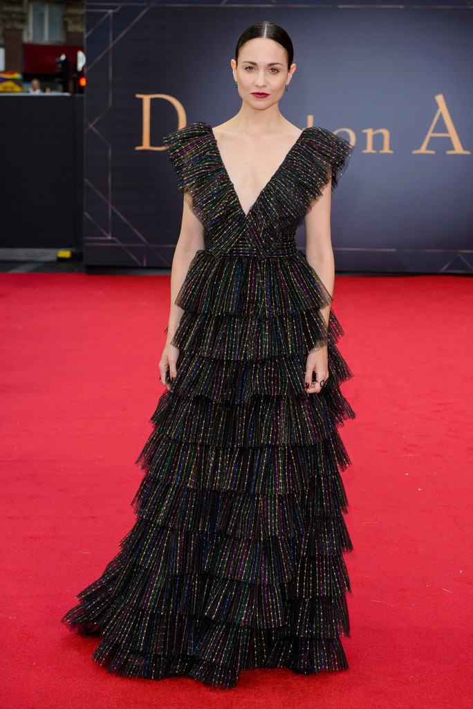 Tuppence Middleton Downton Abbey World Premiere London
