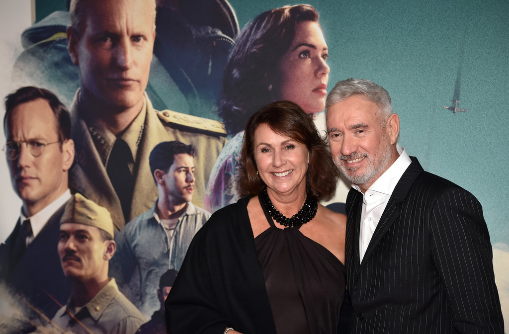Ute and Roland Emmerich Midway Premiere Munich Germany Arrivals