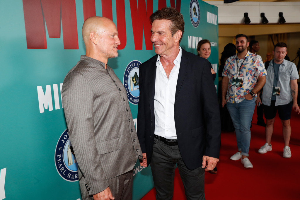 Woody Harrelson and Dennis Quaid Midway Special Screening Honolulu Hawaii