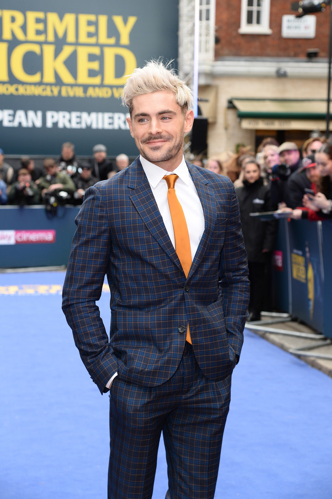 Zac Efron Extremely Wicked Shockingly Evil and Vile European Premiere London Arrivals