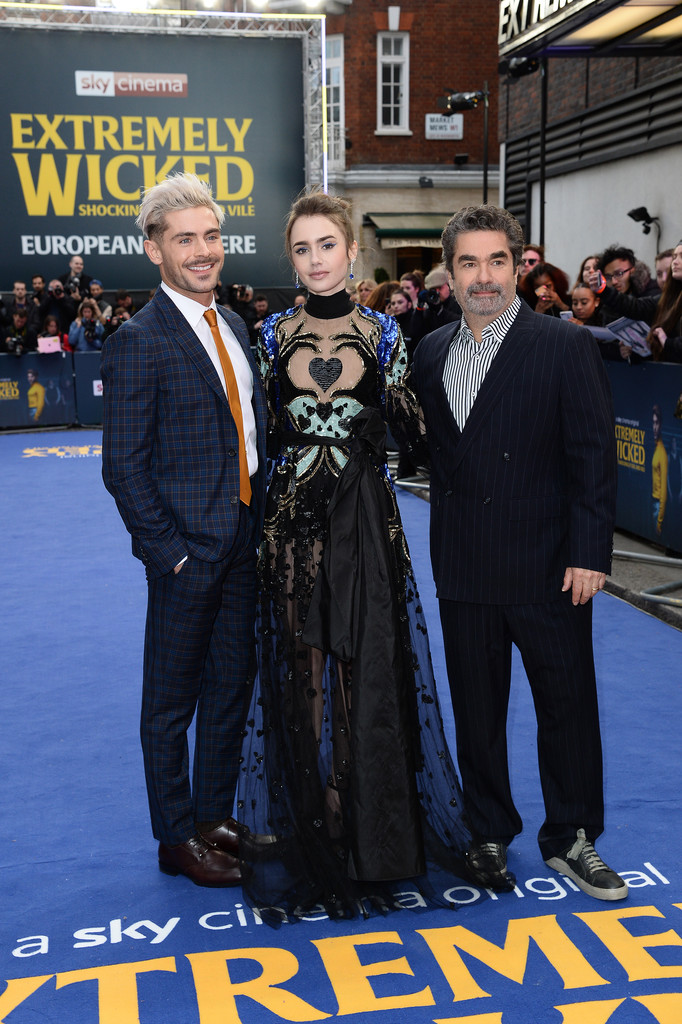 Zac Efron, Lily Collins and Joe Berlinger Extremely Wicked Shockingly Evil and Vile European Premiere London