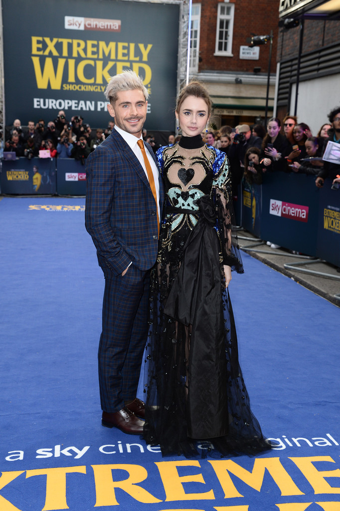 Zac Efron and Lily Collins Extremely Wicked Shockingly Evil and Vile European Premiere London