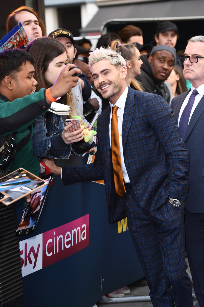 Zac Efron greets fans Extremely Wicked Shockingly Evil and Vile European Premiere London