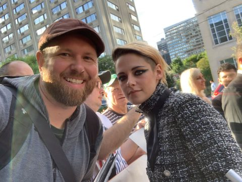 Brian Nolet with Kristen Stewart at the premiere of Seberg at the Toronto International Film Festival