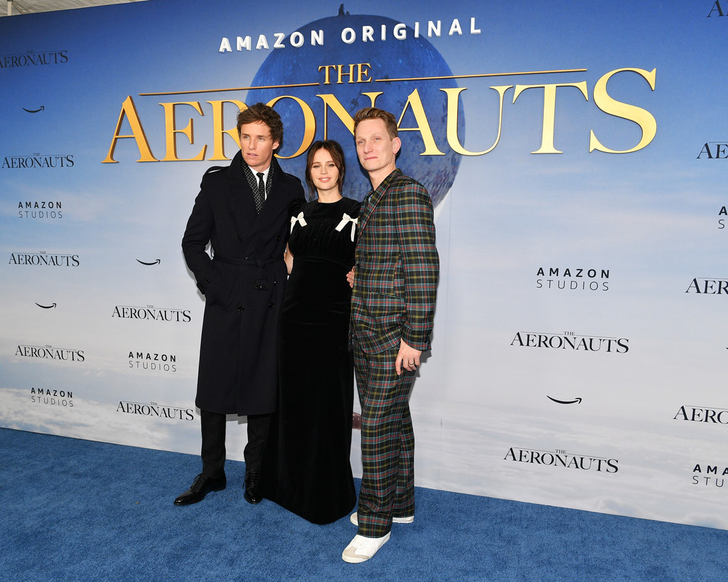 Eddie Redmayne, Felicity Jones and Tom Harper The Aeronauts New York Premiere