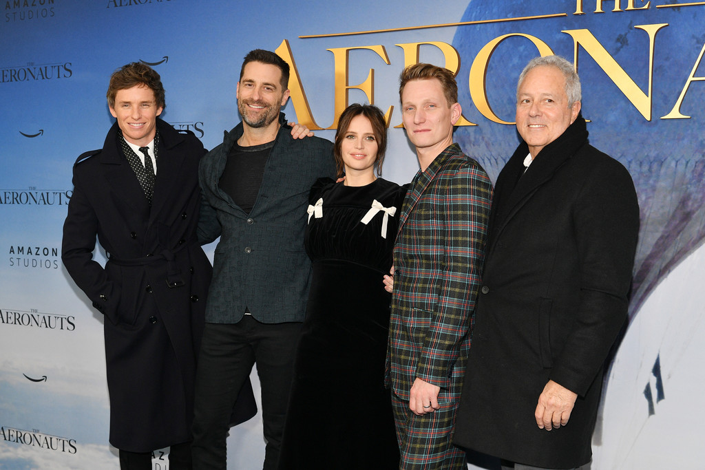 Eddie Redmayne, Todd Lieberman, Felicity Jones, Tom Harper and David Hoberman The Aeronauts New York Premiere