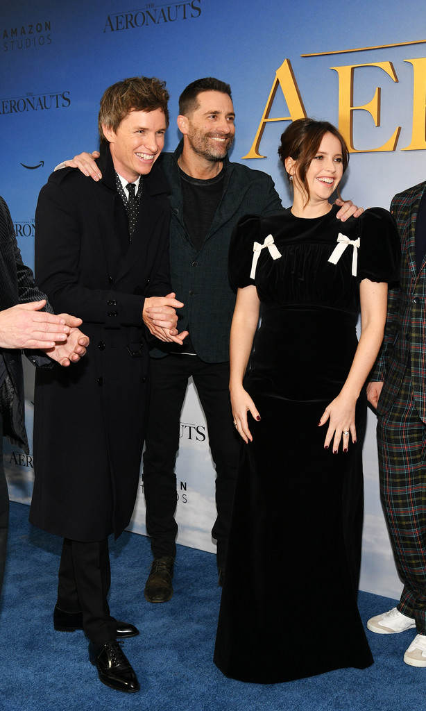 Eddie Redmayne, Todd Lieberman and Felicity Jones The Aeronauts New York Premiere