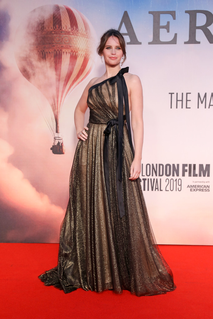 Felicity Jones The Aeronauts UK Premiere 63rd BFI London Film Festival Premiere Arrivals