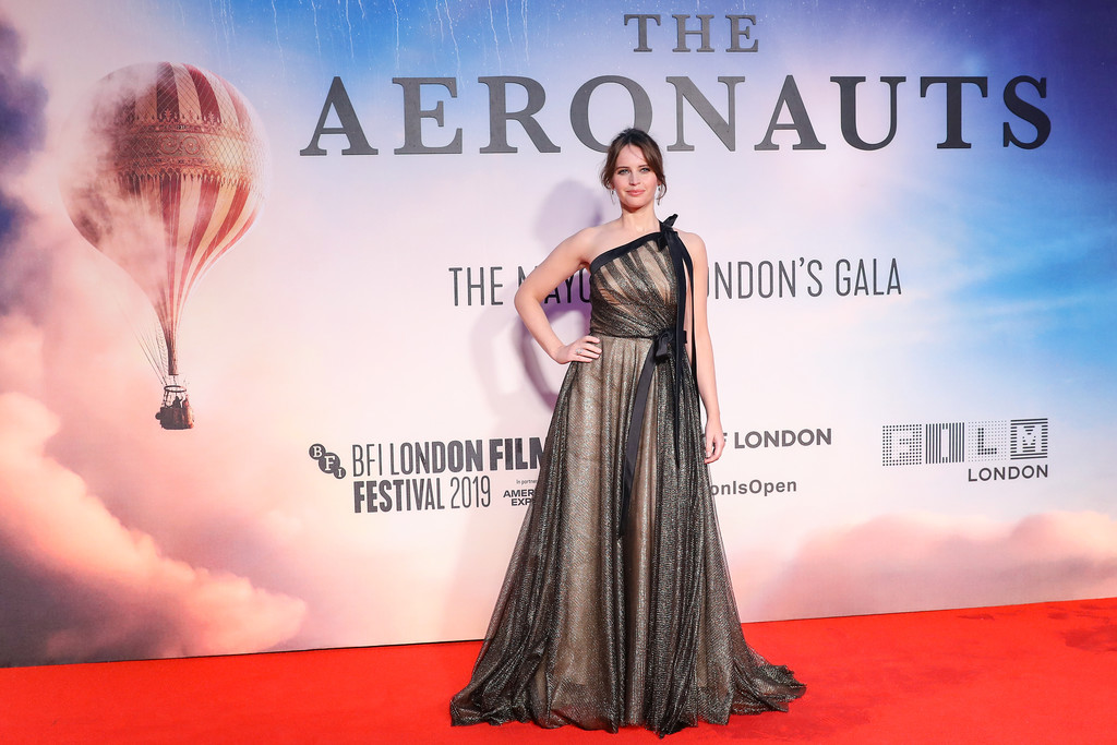 Felicity Jones The Aeronauts UK Premiere 63rd BFI London Film Festival Premiere