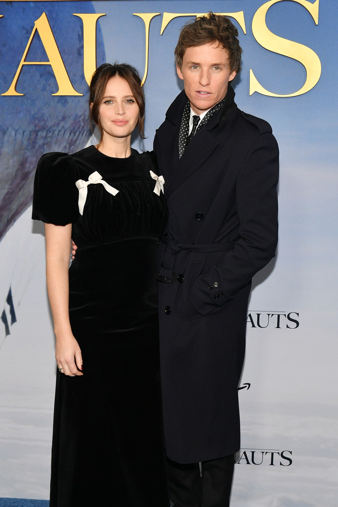Felicity Jones and Eddie Redmayne The Aeronauts New York Premiere