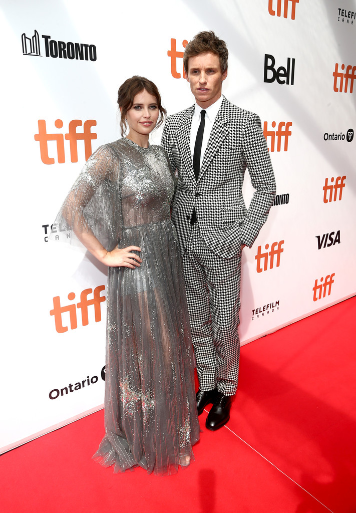Felicity Jones and Eddie Redmayne The Aeronauts Toronto International Film Festival Premiere TIFF