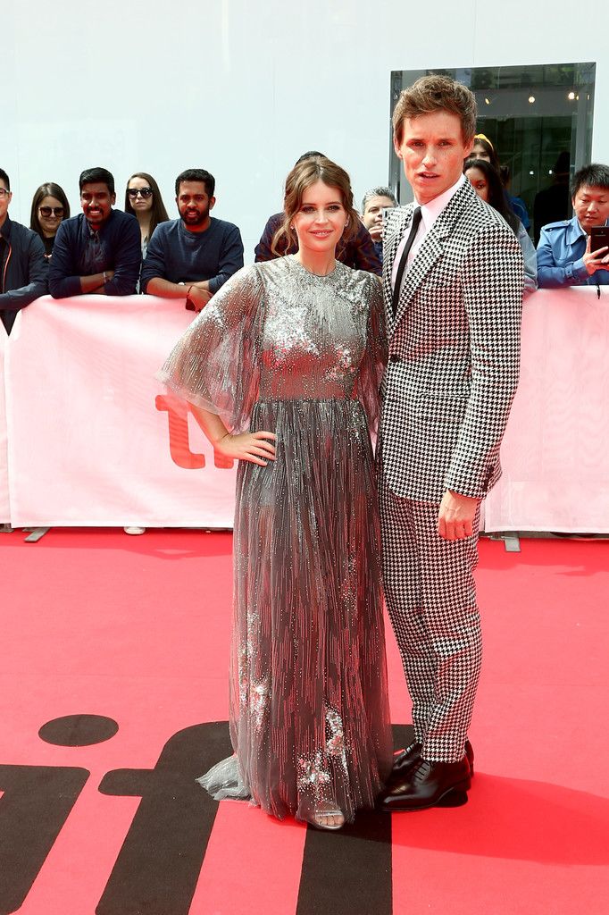 Felicity Jones and Eddie Redmayne The Aeronauts Toronto International Film Festival Premiere TIFF Arrivals