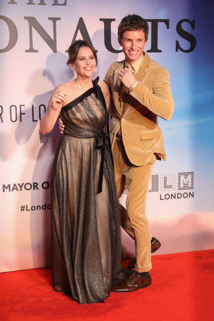 Felicity Jones and Eddie Remayne The Aeronauts UK Premiere 63rd BFI London Film Festival Premiere