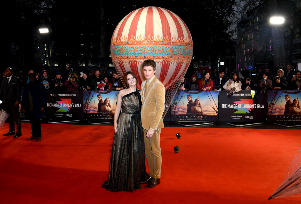 Felicity Jones and Eddie Remayne The Aeronauts UK Premiere 63rd BFI London Film Festival Premiere 4