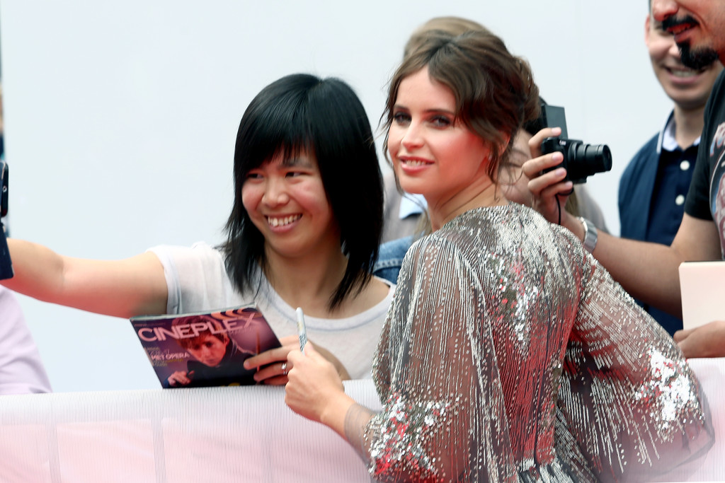 Felicity Jones greets fans The Aeronauts Toronto International Film Festival Premiere TIFF
