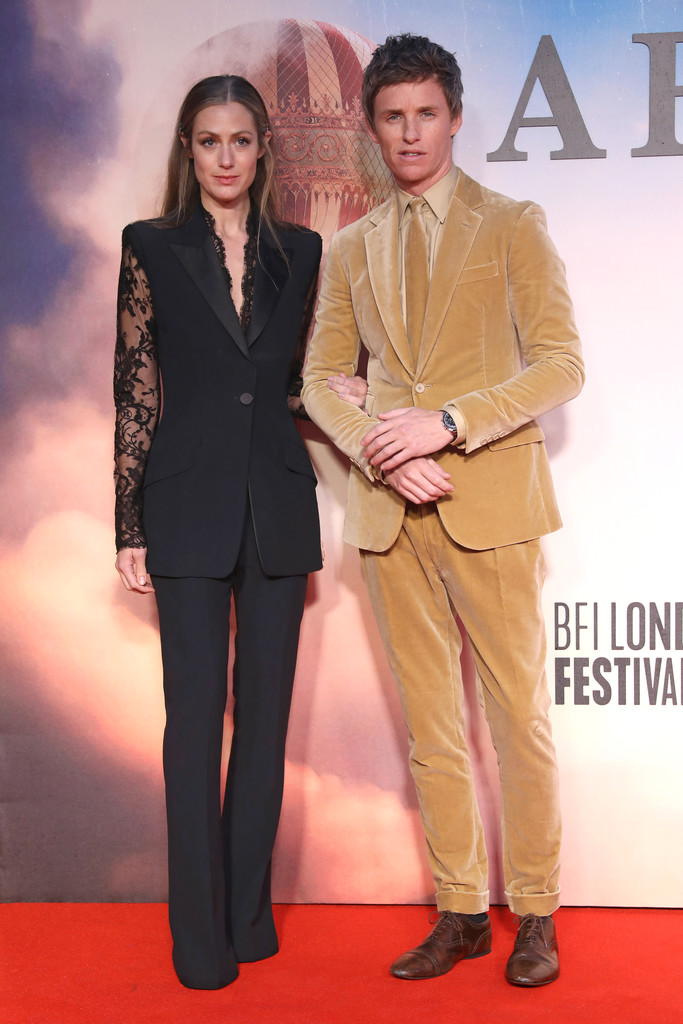 Hannah Bagshawe and Eddie Redmayne The Aeronauts UK Premiere 63rd BFI London Film Festival Premiere