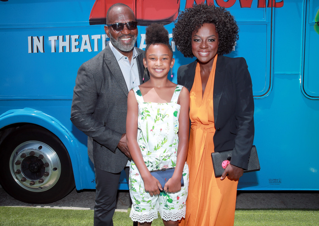 Julius and Genesis Tennon and Viola Davis The Angry Birds Movie 2 Los Angeles Premiere
