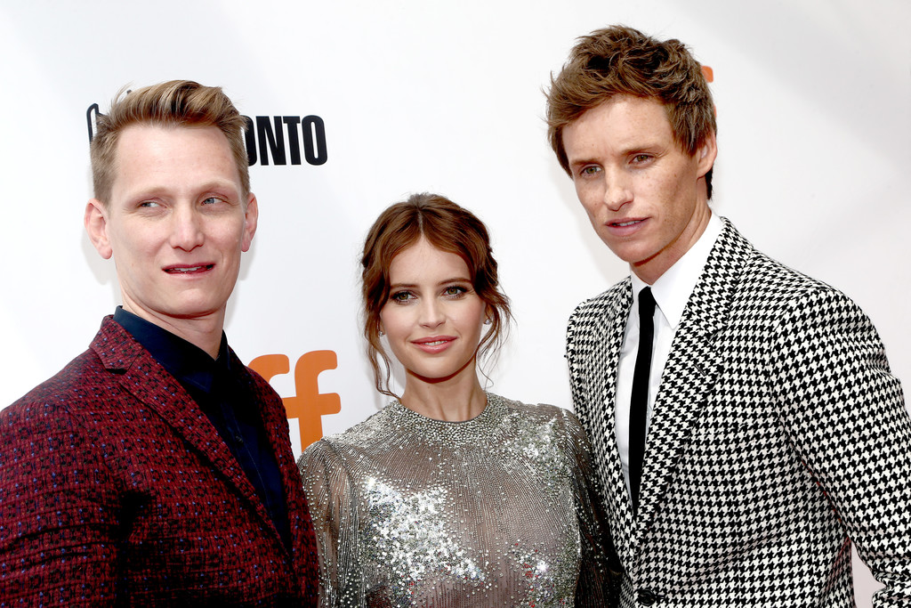 Tom Harper, Felicity Jones and Eddie Redmayne The Aeronauts Toronto International Film Festival Premiere TIFF