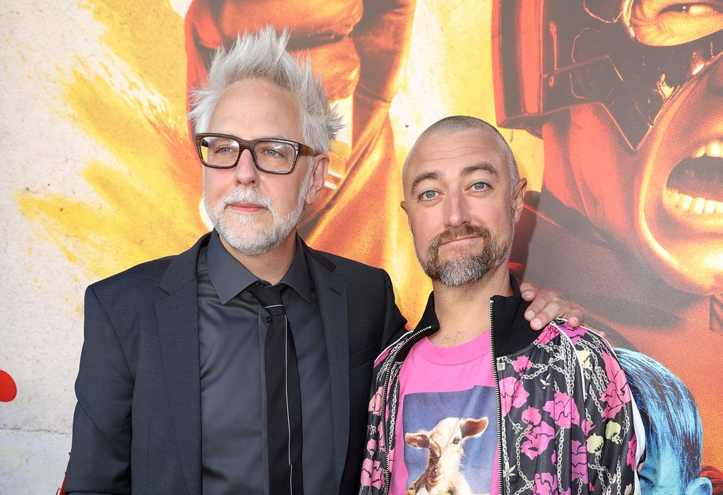 James Gunn and Sean Gunn attend the world premiere of 'The Suicide Squad' in Los Angeles on August 02, 2021