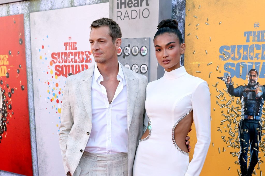 Joel Kinnaman and Kelly Gale the world premiere of 'The Suicide Squad' in Los Angeles on August 02, 2021