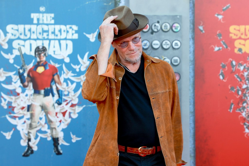 Michael Rooker attends the world premiere of 'The Suicide Squad' in Los Angeles on August 02, 2021