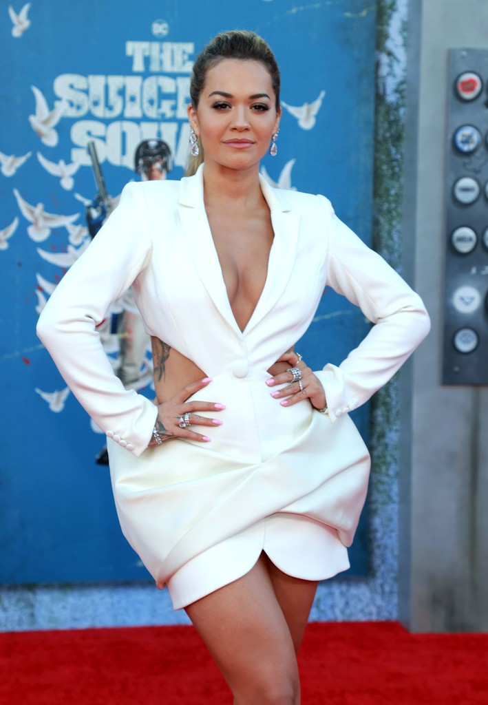 Rita Ora attends the world premiere of 'The Suicide Squad' in Los Angeles on August 02, 2021