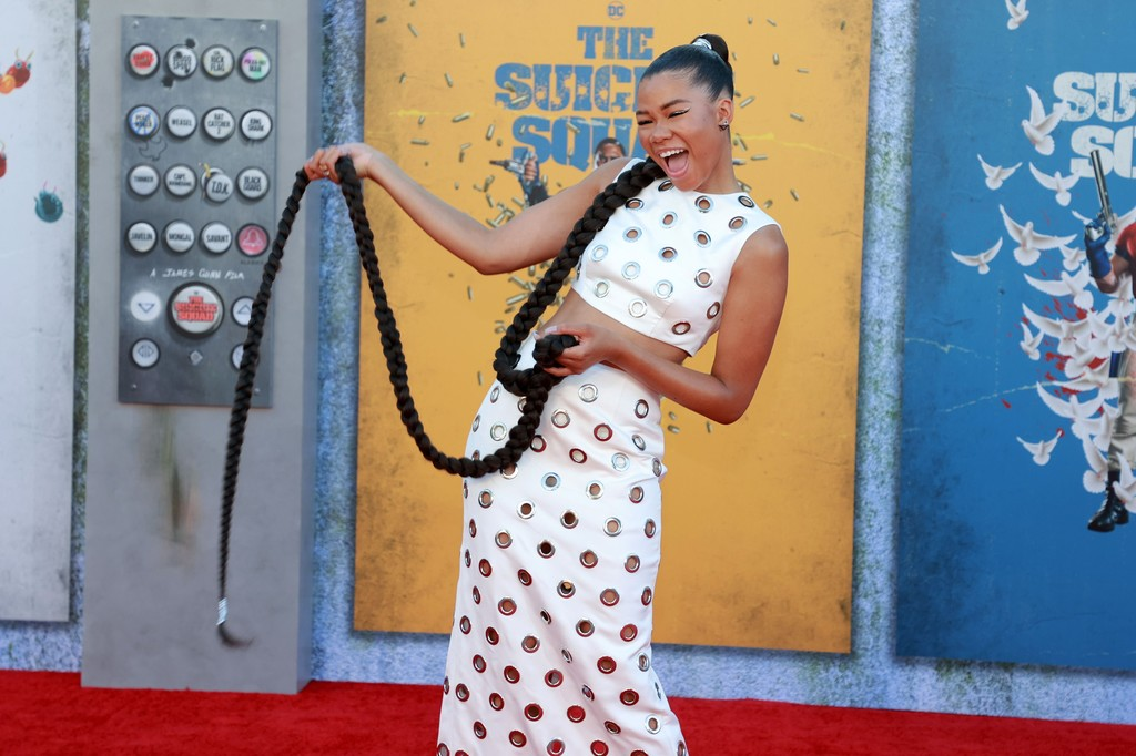 Storm Reid attends the world premiere of 'The Suicide Squad' in Los Angeles on August 02, 2021