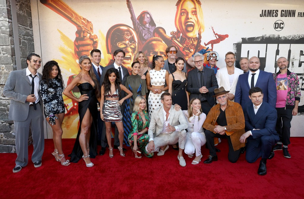The cast of 'The Suicide Squad' at the world premiere in Los Angeles